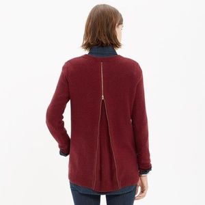 Madewell pullover sweater the back zipper